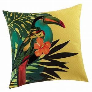 Coussin Maison Du Monde : coussin jaune 45 x 45 cm toucan maisons du monde ~ Dode.kayakingforconservation.com Idées de Décoration