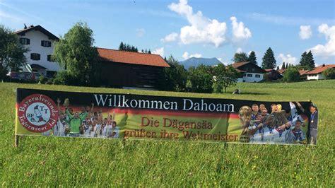 banner  ortseingang von gmund willkommen dahoam fuer