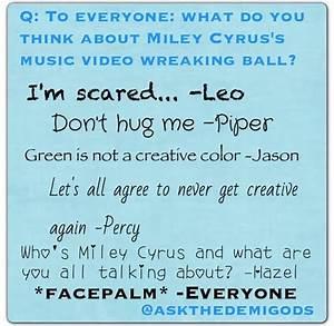 Haha. Leo, Jason, Piper and Percy's Don't Hug Me I'm ...