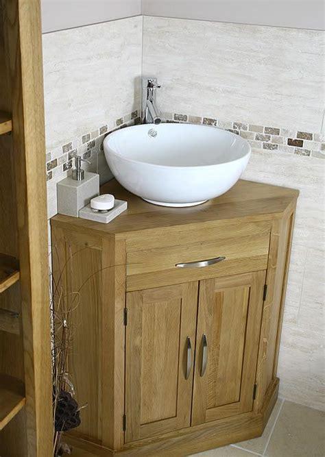 Corner Sink Bathroom Vanity by Corner Bathroom Vanity Oak And Ceramic Corner Bathroom