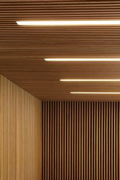 Wood Slats Add Texture And Warmth To These Homes by Wood Slats Basement Ceilings And Basements On