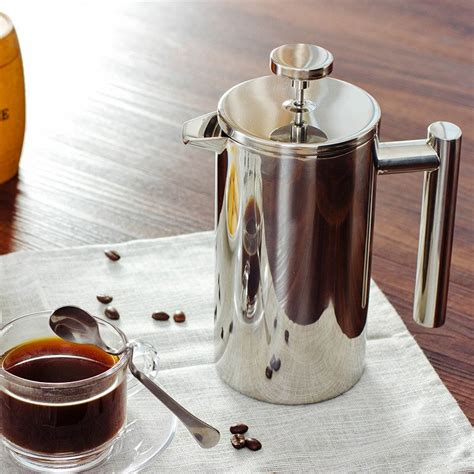 8918 3d models found related to coffee presser. French Press Coffee Maker Best Double Walled Stainless ...