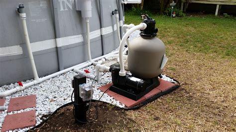 Intex Pool Upgraded Hard Plumb, Pool Pump, Sand Filter