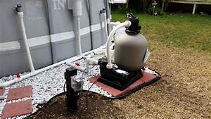 Intex Pool Upgraded Hard Plumb  Pool Pump  Sand Filter  And Salt Water G