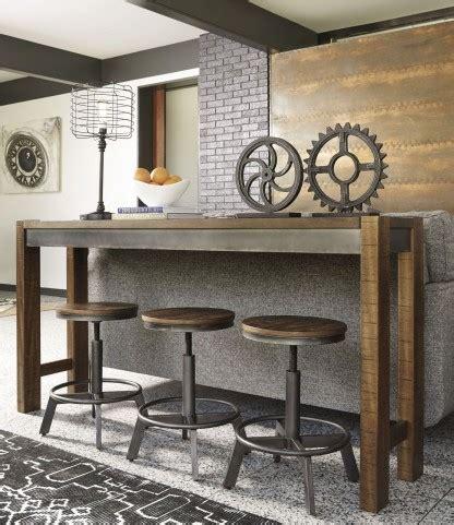 torjin brown  gray long counter height dining room set