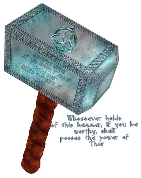 mjolnir thor 39 s mighty hammer by zemimsky on deviantart