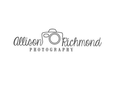 unique photography logo design custom  redmeadowdesignco