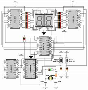 Digital Stopwatch Circuit Diagram