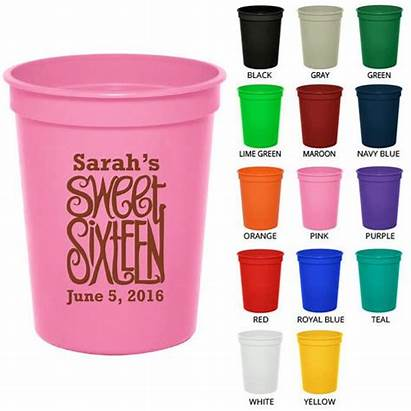 Cups Party Personalized Clipart Birthday Favors Sweet
