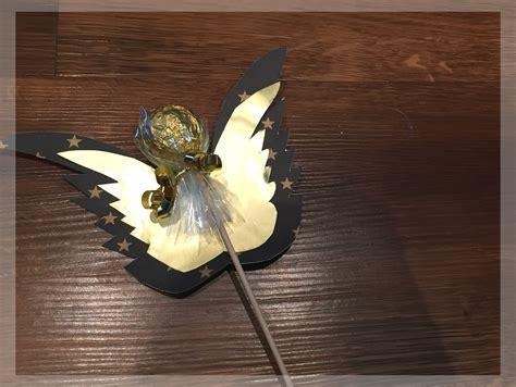 ferrero rocher bastelanleitung rocher engel am stiel basteln als kleines wichtelgeschenk