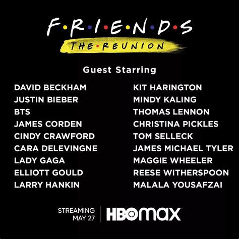Or are worried about matthew perry 's health. FRIENDS The Reunion guest stars and official showing date announced - BENTEUNO - Top News in ...