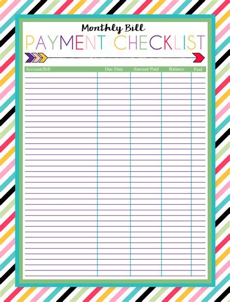 printable bill pay calendar templates