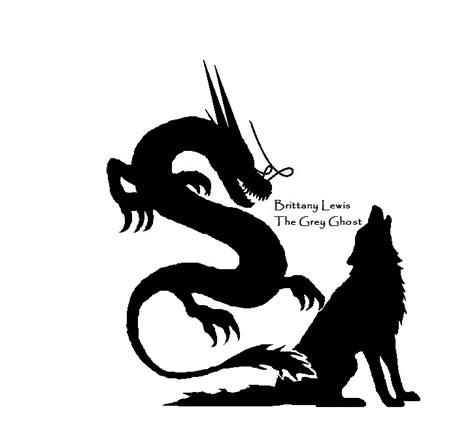 dragon wolf silhouette tattoo  artistgreyghost  deviantart