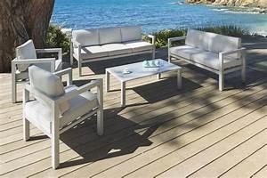 Salon Aluminium De Jardin : salon bas de jardin en aluminium id es de d coration ~ Edinachiropracticcenter.com Idées de Décoration