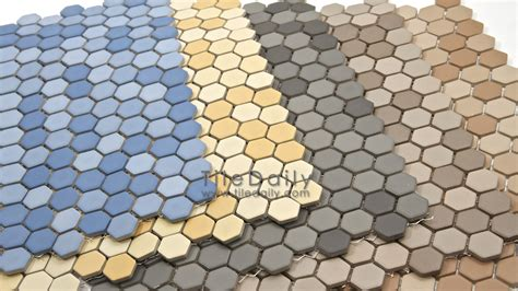 hexagon porcelain tile porcelain mosaic tiledaily