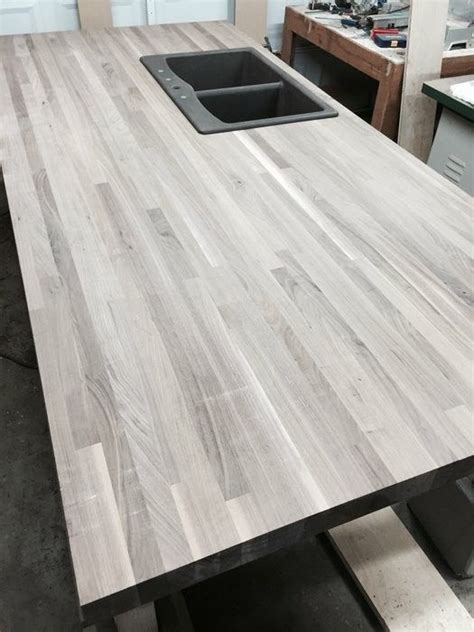 gray butcher block kitchen makeover custom butcher