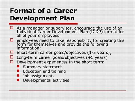 employee development plans templates employee