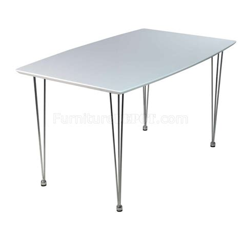 white high gloss top modern dining table w optional chairs