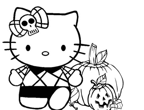 Hello Kitty Halloween Coloring Pages by Hello Kitty Halloween Coloring Pages