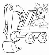Coloring Pages Excavator Truck Dump Boys sketch template
