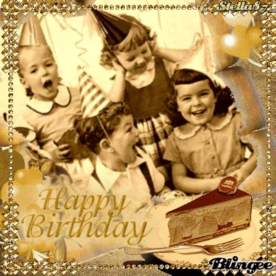 vintage birthday picture  blingeecom