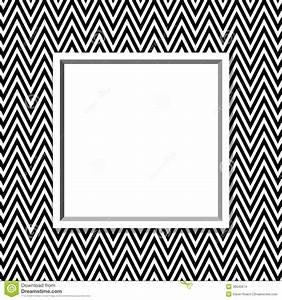 Cadre Noir Et Blanc : cadre noir et blanc de chevron avec le fond de cadre images stock image 36642874 ~ Teatrodelosmanantiales.com Idées de Décoration