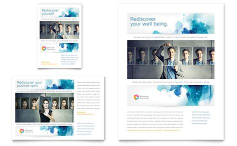 behavioral counseling flyer ad template word publisher