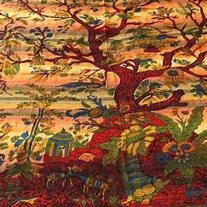 Tissus Decoration Murale : couvre lit arbre de vie tapisserie d coration murale tissu d co l 39 arbre de vie ~ Nature-et-papiers.com Idées de Décoration