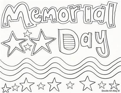 Memorial Coloring Doodle Alley Activities Worksheets Preschoolers