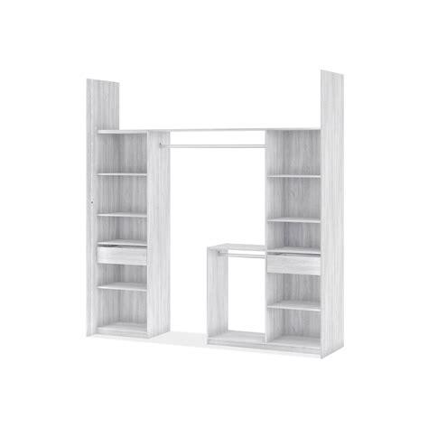 chaise bois blanc kit dressing effet frêne blanc york h 249 x l 178 239