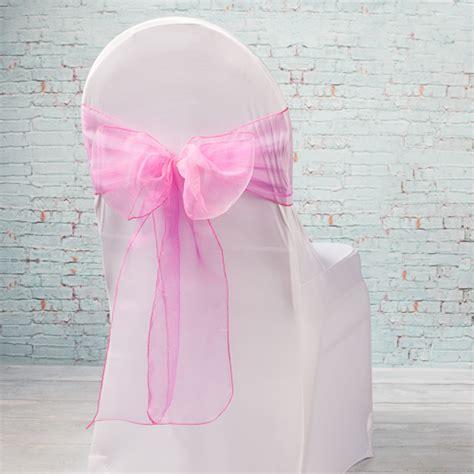 10 fuchsia pink organza chair sashes