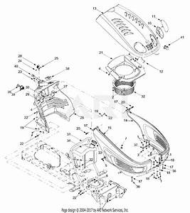 Mtd 13bd604g401  2002  Parts Diagram For Hood  Fuel Tank