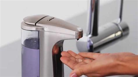 distributeur de savon automatique simplehuman sur maspatule