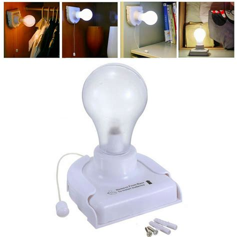 stick up led handy wired bulb cabinet wall mount table l light battery ebay