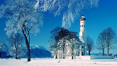 Christmas Snow Scene Background Wallpapers Pc Wallpapertag