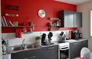 Decoration Peinture : deco cuisine peinture couleur idees galerie et deco ~ Nature-et-papiers.com Idées de Décoration