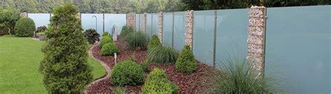 Sichtschutz Garten Steinkörbe by Glaszaun F 252 R Garten Und Terrasse Glasprofi24