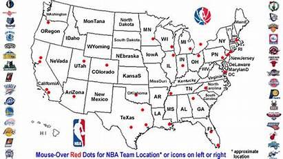 Nba Map Teams Basketball Usa Team Favorite
