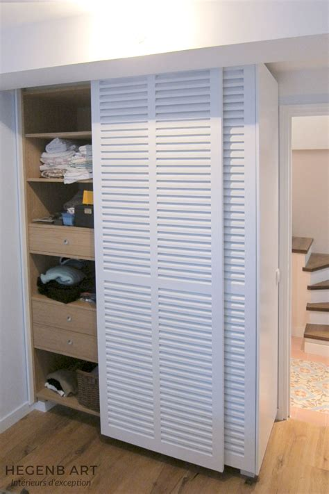 placard haut cuisine placard sur mesure contemporain avec porte persienne by