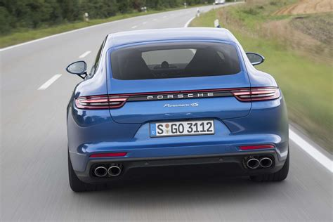 porsche back 2017 porsche panamera 4s rear end in motion 1 motor trend