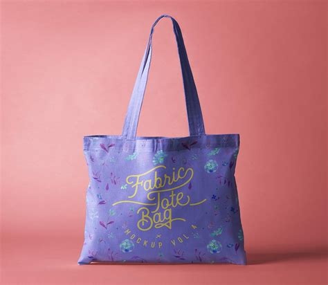 Eco bag mockup template with lettering element. Free Fabric Tote Bag Mockup | Mockuptree