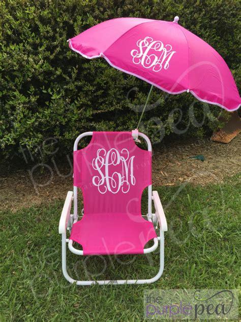monogrammed kid s chair w umbrella monogrammed
