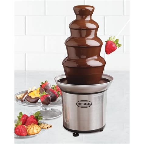 nostalgia 3 lb 4 tier chocolate fondue cff 986 the home depot