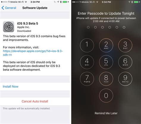iphone ios update automatically installing ios software updates in the