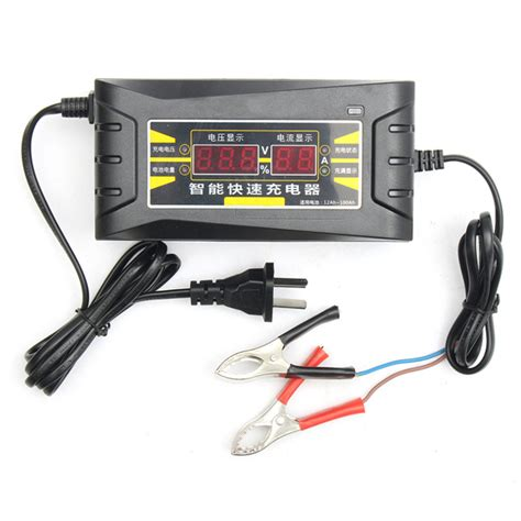 smart fast charger 12v 6a smart fast battery charger for car motorcycle lcd display alexnld