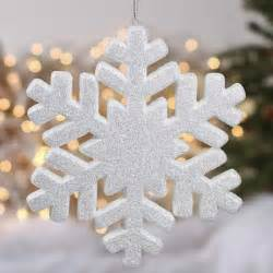 white glittered snowflake ornament ornaments and winter crafts