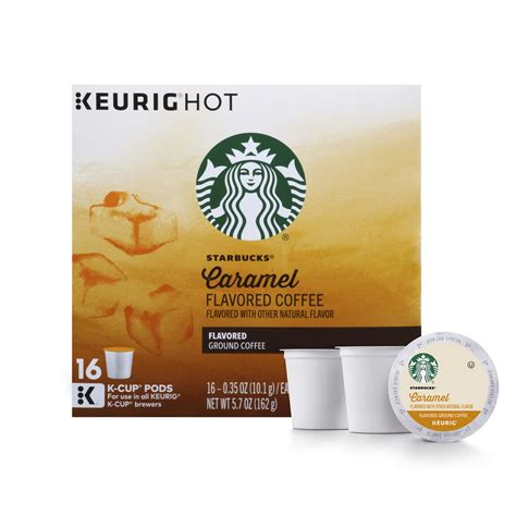 11th street coffee has starbucks k cup coffee pod products available at our website! Starbucks Caramel Flavored Medium Roast Single Cup Coffee ...
