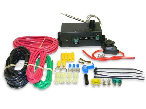 flex  lite automotive adjustable temperature electric fan