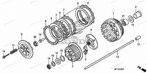 Honda Motorcycle 2010 Oem Parts Diagram For Clutch