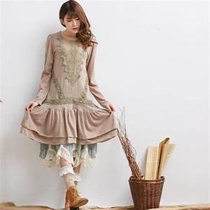 Aliexpress.com  Buy cute hippie boho retro suede robes femmes ropa mujer vintage vestido de ...